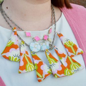 Triangle Quilt Necklace