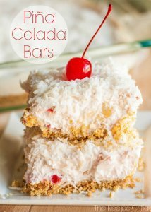 Tropical Pina Colada Bars