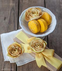 Sunny Yellow Paper Ranunculus