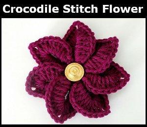 Crochet Stitches That Look Like Flowers : Crocodile Stitch Crochet Flower AllFreeCrochet.com