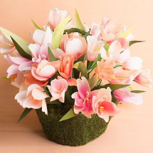 Paper Tulips Centerpiece