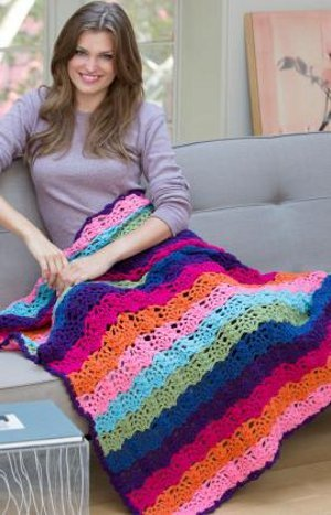 Tropical Explosion Crocheted Afghan
