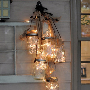 Summer Cottage Mason Jar Lantern