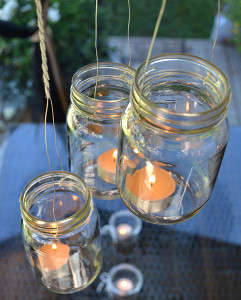 Cascading Mason Jar Lantern