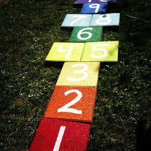 DIY Rainbow Paver Hopscotch