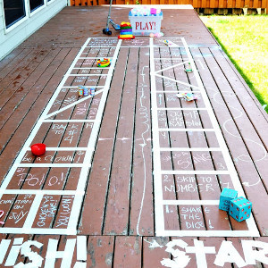 DIY Backyard Board Game