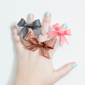 Darling Ribbon Bow Rings