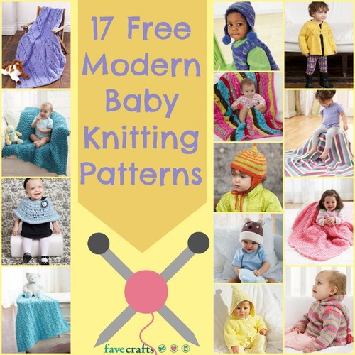 Free Modern Knitting Stitches : 17 Free Modern Baby Knitting Patterns FaveCrafts.com