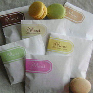 DIY Party Favor Bags for Macarons
