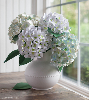 Incredibly Realistic Paper Hydrangeas