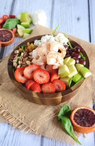 Strawberry Almond Shrimp Salad