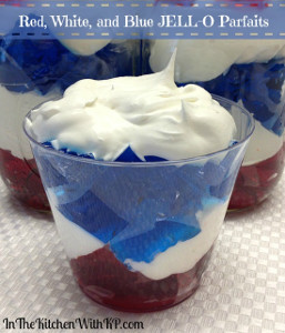 Red, White, and Blue Jell-O Parfaits