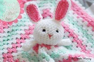 Crochet Bunny Lovey Blanket