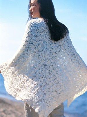 Knitting Pattern For Wedding Shawl : 17 Lace Knitting Patterns for Wedding Shawls AllFreeKnitting.com
