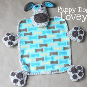 Puppy Dog Lovey Baby Blanket