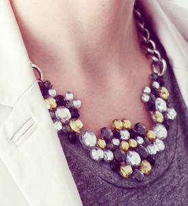 Rocker Chic Gemstone Necklace