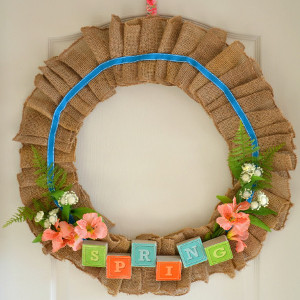 Charming Burlap Wreath