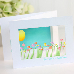 Sending You Sunshine Trifold Panorama Notecards