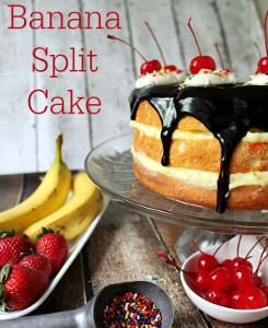 Three-Layer Banana Split Cake