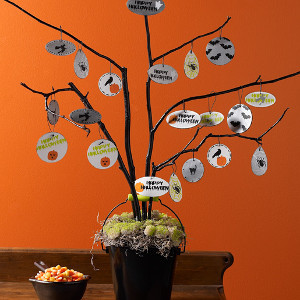 Witch's Halloween Tree Centerpiece
