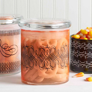 Spooky Glass Treat Jars