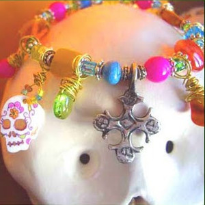 Skull and Bat Halloween Jewelry