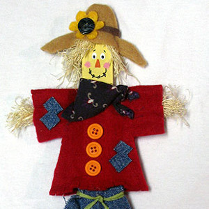 Friendly Paint Stick Scarecrow