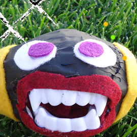 Football Monster Halloween Craft
