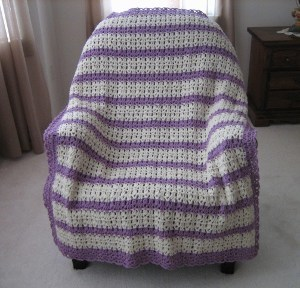 Blueberry Lemonade Crocheted Afghan Pattern