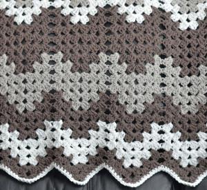 Monochromatic Crochet Baby Blanket