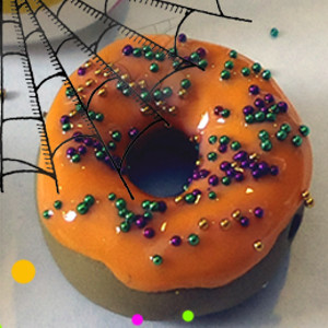 Pumpkin Orange Doughnut Beads