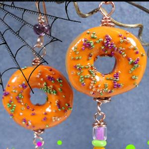 Curiously Creepy Doughnut Earrings