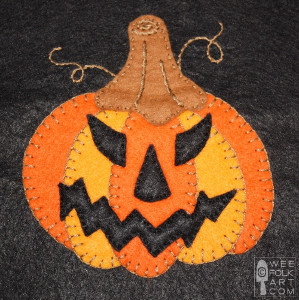 Jack O Lantern Applique Template
