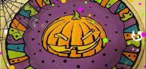 Dollar Store Pumpkin Plate