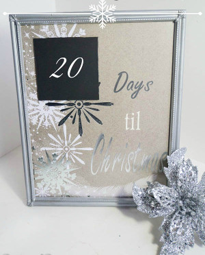 Adorable Christmas Countdown Frame