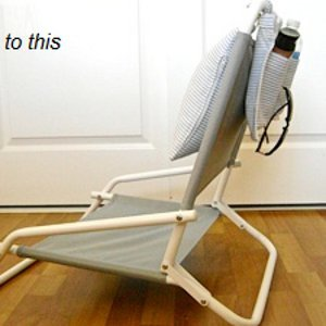 Diy beach chair pocket allfreesewing com
