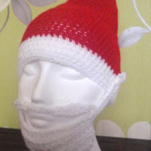 Easy Santa Hat with Beard