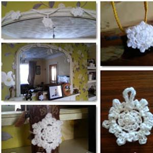 DIY Holiday Snowflake Decorations