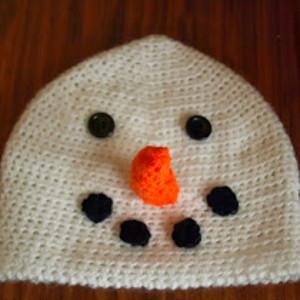 Frosty the Snowman Beanie Pattern