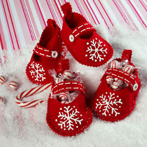 Cute and Crafty Christmas Booties