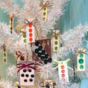 Adorable Button Card Ornaments