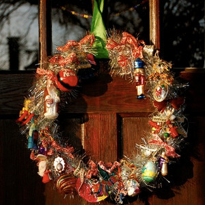 Christmas Cool Ornaments Wreath