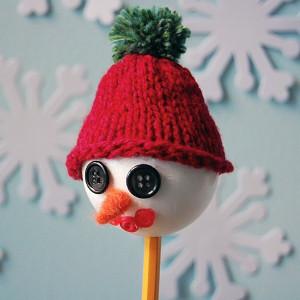 Unforgettable Snowman Pencil Puppet