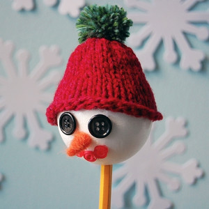 Unforgettable Snowman Pencil Puppet