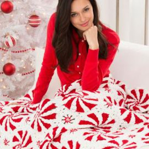 Addictive Peppermint Throw and Pillow