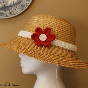 Free Crochet Pattern For Hat Band : Pretty Woman Hat Band AllFreeCrochet.com