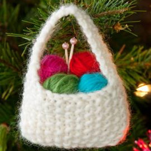 Insanely Cute Yarn Basket Ornament