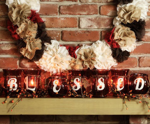Curiously Country Candle Centerpiece
