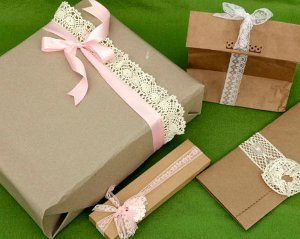 Brown Paper Packaging Tied Up with String
