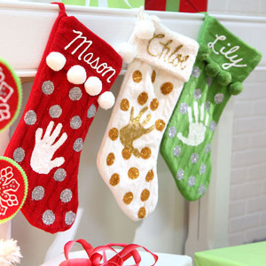 Monogrammed Style Memories Stockings